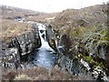 NG8758 : Waterfall on Abhainn Coire Mhic Nobuil by sylvia duckworth