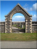 SX1595 : Cemetery gateway at Middle Crackington by Rod Allday