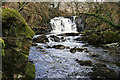 NX6580 : Holy Linn Waterfall by Walter Baxter