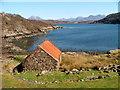 NG7557 : Boathouse on Loch a' Chracaich : Week 15