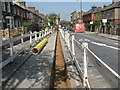 TQ4078 : Gas main trench on Combedale Road by Stephen Craven