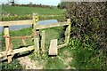 SJ5260 : Stile by the Shropshire Union Canal by Jeff Buck