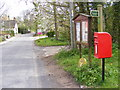 TM3068 : The Street, Badingham &amp; The Street Postbox by Adrian Cable
