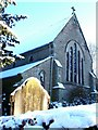The church is pictured after the New Year snowfall