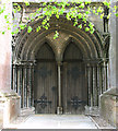 TF4713 : St Mary's church in West Walton - west doorway by Evelyn Simak