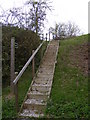 TM2953 : Steps to the footpath off Byng Hall Road by Adrian Cable