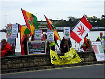 SY6879 : Pro-cannabis demo, Weymouth by Brian Robert Marshall