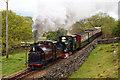 SH6139 : Palmerston and Blanche Approaching Rhiw Goch, Gwynedd by Peter Trimming