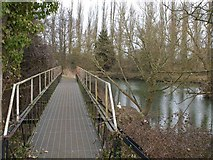 ST6668 : Footbridge, Portavon Marina by Derek Harper