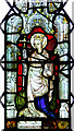TF8522 : St Peter's church in Weasenham - medieval glass by Evelyn Simak
