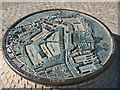 TQ3679 : Relief map of Surrey Docks by Stephen Craven
