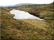 NM5766 : Lochan at forest edge near Glen More, Ardnamurchan by Chris Wimbush