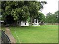 SP9832 : Eversholt: cricket pavilion by John Sutton