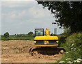 ST6155 : 2010 : JCB in a field off Pitway Lane by Maurice Pullin
