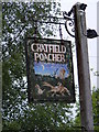 TM3175 : Cratfield Poacher Public House sign by Adrian Cable
