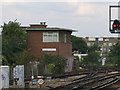 TQ3174 : Herne Hill signalbox by Stephen Craven