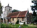 TL9039 : Little Cornard  All Saints church by Adrian S Pye