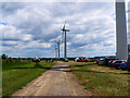SU2391 : Open day at Westmill Windfarm, Watchfield by Brian Robert Marshall