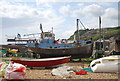 TQ8209 : Boat on the beach by N Chadwick