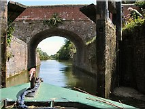 SU3568 : Passing through Dun Mill lock gate by Paul Gillett