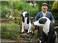 NT8937 : Farmer & Collies, The Cement Menagerie, Branxton by Andrew Curtis