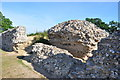 TG4704 : Fallen North Wall by Ashley Dace