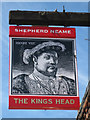 TR1634 : The Kings Head sign by Oast House Archive