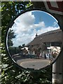 SW8140 : The Punchbowl and Ladle at Penelewey seen in a concave driveway mirror by Neil Theasby