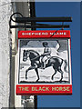 TQ7714 : The Black Horse sign by Oast House Archive