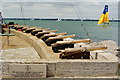 SZ4996 : Royal Yacht Squadron Starting Cannons, Cowes : Week 31