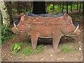 SJ5369 : Double boared seat by Richard Webb