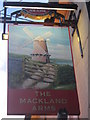 TQ8266 : The Mackland Arms Pub Sign by David Anstiss