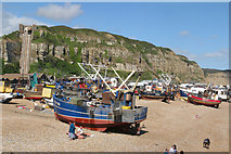 TQ8209 : Beach Based Fishing Boats by Oast House Archive