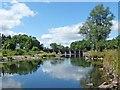 SO2913 : River Usk at Llanfoist by Robin Drayton