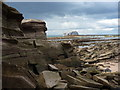 NT6184 : Coastal East Lothian : Car Rocks near Seacliff (537) : Week 33
