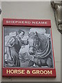 TQ2879 : Horse and Groom Pub Sign by David Anstiss