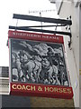 TQ2880 : Coach and Horses Pub Sign by David Anstiss