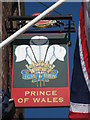 TQ3578 : Prince of Wales Pub Sign by David Anstiss