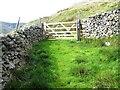 SD7098 : Gated footpath near Wandale Hill : Week 33