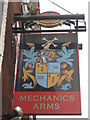 TR0161 : Mechanics Arms, Faversham, Pub Sign by David Anstiss