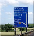 TQ5889 : M25: junction 29 sign by N Chadwick