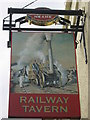 TQ7172 : Railway Tavern, Pub Sign, Lower Higham by David Anstiss