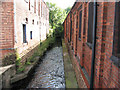 SK5543 : River Leen at Southwark Street, Basford by John Sutton