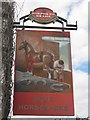 TR1065 : Four Horseshoes, Pub Sign, Whitstable by David Anstiss