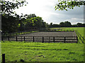 SP1669 : Man&egrave;ge and paddocks near Tapster Mill by Robin Stott
