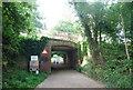 TQ5746 : Railway bridge, Haysden Country Park by N Chadwick