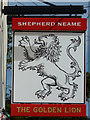 TR1661 : The Golden Lion sign by Oast House Archive