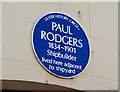 Photo of Paul Rodgers blue plaque