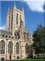 TL8564 : St Edmundsbury cathedral, Bury St Edmunds by Evelyn Simak