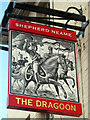 TQ7556 : The Dragoon sign by Oast House Archive
